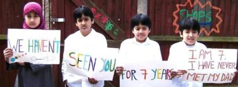 Shaker Aamer's children in 2009