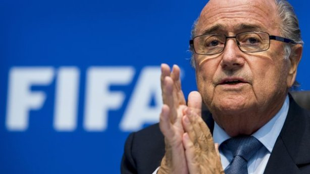 Sepp Blatter wondering whether a brewery is a good place for a piss-up, yesterday