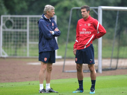 Robin Van Persie and Arsene Wenger