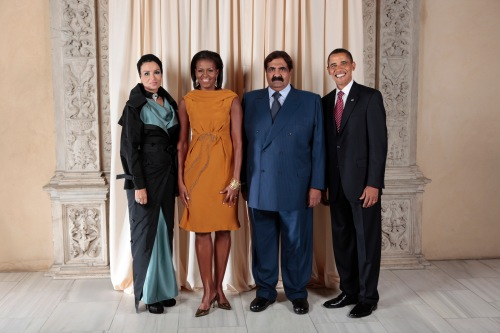 That nice Al Thani family, with dodgy geezer to the right