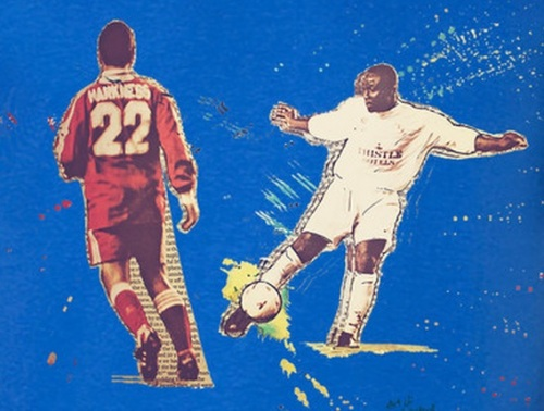 Art of Football Yeboah Tribute shirt detail