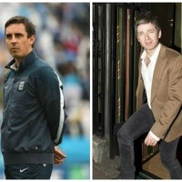 Gary Neville asks Manchester City fan Noel Gallagher to sign guitar, ends up defaced