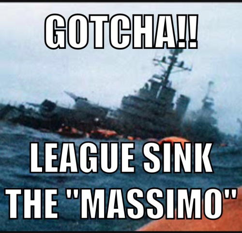 "The sinking of the ""Massimo"" - as reported by ""The Scum"""