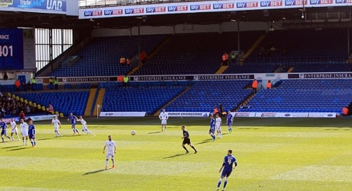 """Cardiff fans turn up in """"blue seat"""" fancy dress - or are they welshing on their team?"""