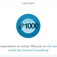 1000 Not Out for the Leeds United Blog With Attitude   -   by Rob Atkinson
