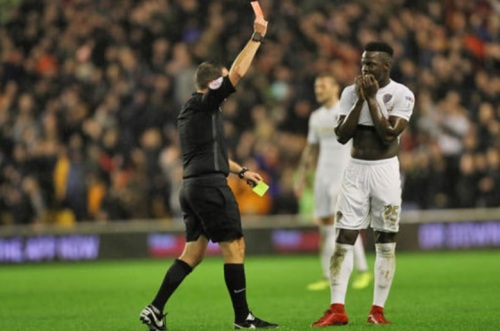 LUFC red card