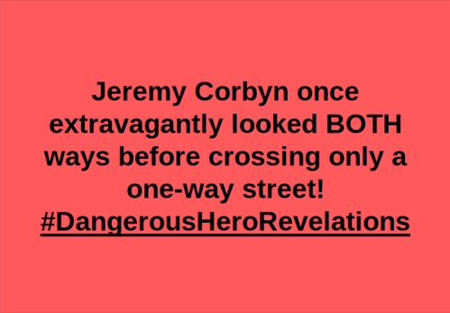 Corbyn crossing one way street